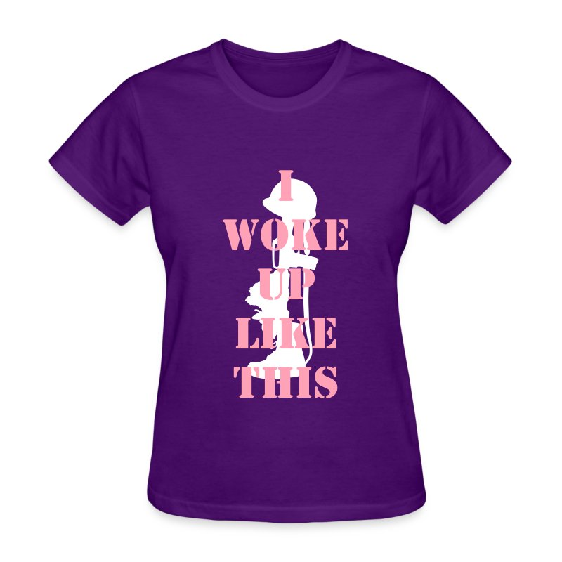 I Woke Up Like This Purple  - Women's T-Shirt