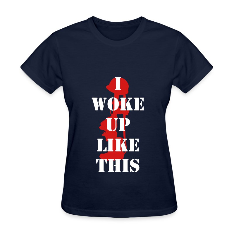 I Woke Up Like This Blue Red - Women's T-Shirt