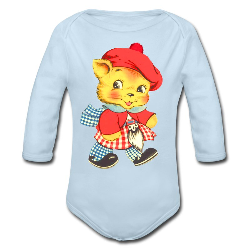 Scottish Cat - Long Sleeve Baby Bodysuit