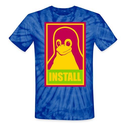 blue lsd tux - Unisex Tie Dye T-Shirt