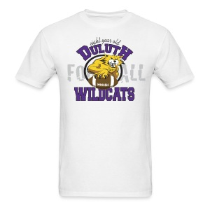 Men's Duluth Wildcats White -8yr old - Men's T-Shirt