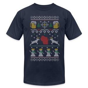 CHRISTMAS IN WISCONSIN - Men's T-Shirt by American Apparel