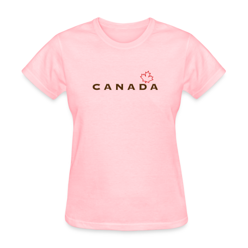 Canada with Leaf Outline - Women's T-Shirt