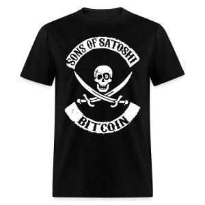 Bitcoin Anarchy Black T Shirt - Men's T-Shirt