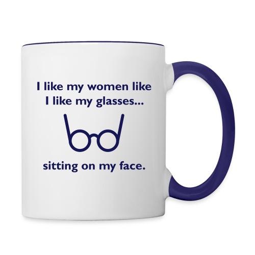 glasses ringer iphone5 case - Contrast Coffee Mug