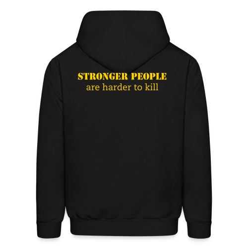 WCFM Men's Strong people are harder to kill Hoodie - Men's Hoodie