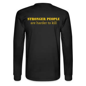 Men's Strong people are harder to kill Long-Sleeve Tee - Men's Long Sleeve T-Shirt