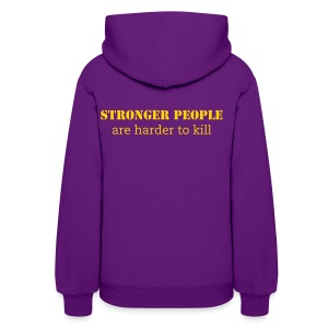 WCFM Women's Strong people are harder to kill Hoodie - Women's Hoodie