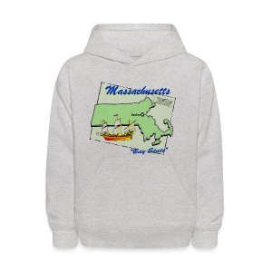 Massachusetts Hooded Sweatshirt For Kids - Kids' Hoodie