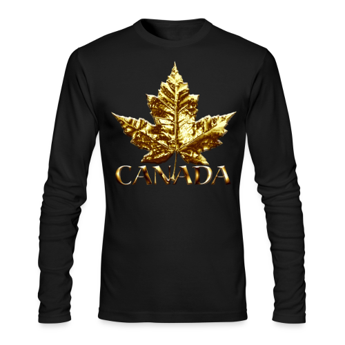 Canada Souvenir Men's Shirt Gold Canada Souvenir Long Sleeve Shirt - Men's Long Sleeve T-Shirt by Next Level