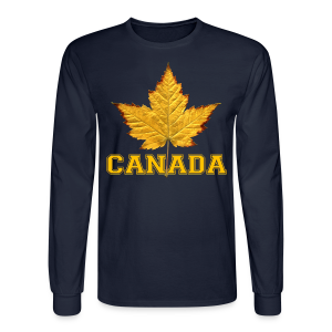 Canada Souvenir Men's Shirt Varsity Canada Long Sleeve Shirt - Men's Long Sleeve T-Shirt
