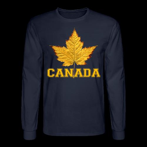 Canada Souvenir Men's Shirt Varsity Canada Long Sleeve Shirt - Men's Long Sleeve T-Shirt