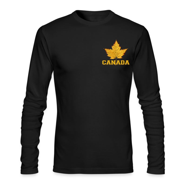 Canada Souvenir Men's Shirt Varsity Canada Long Sleeve Shirt - Men's Long Sleeve T-Shirt by Next Level