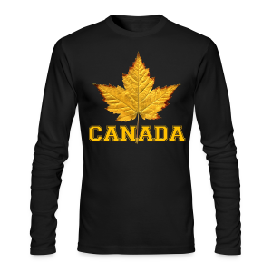 Canada Souvenir Men's Shirt Varsity Canada Long Sleeve Shirt - Men's Long Sleeve T-Shirt by Next Level