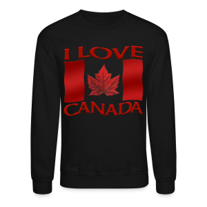 I Love Canada Sweatshirt Men's Canada Souvenir Shirts - Crewneck Sweatshirt
