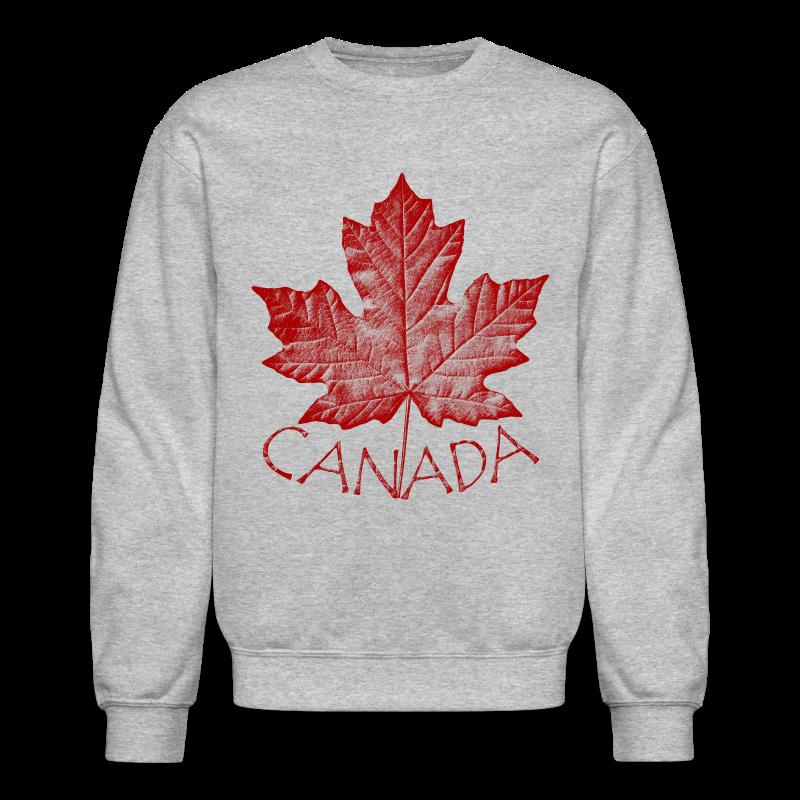 Canada Souvenir Sweatshirt Retro Canada Flag Sweatshirts - Crewneck Sweatshirt