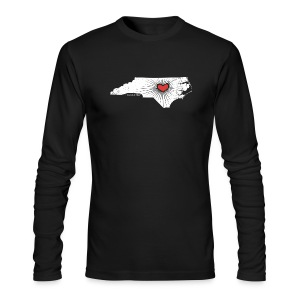 Raleigh Love NC State Wolfpack Edition - White/Red - Men's Long Sleeve T-Shirt by Next Level