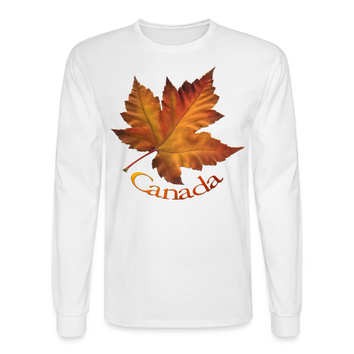 Canada Souvenir Men's Shirts Maple Leaf Long Sleeve T-shirt - Men's Long Sleeve T-Shirt