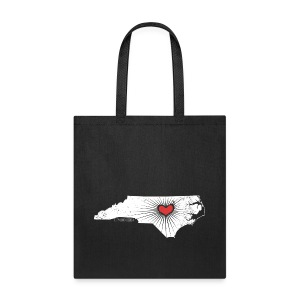 Raleigh Love NC State Wolfpack Edition - White/Red - Tote Bag