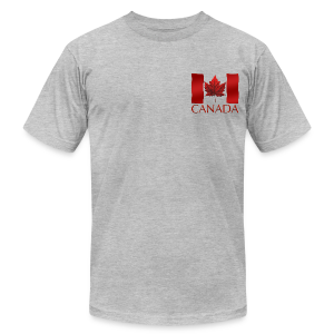 Men's Canada Flag T-shirt Canada Souvenir T-shirt for Men - Men's T-Shirt by American Apparel