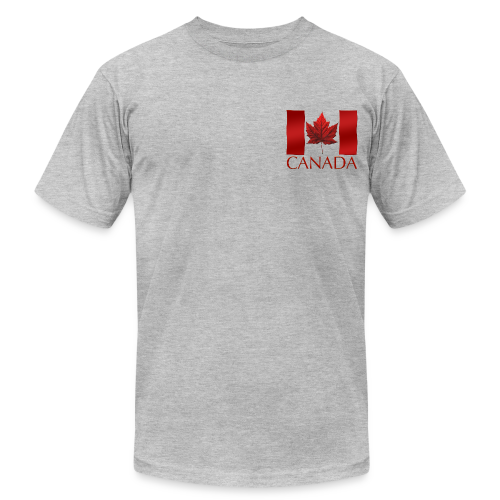 Men's Canada Flag T-shirt Canada Souvenir T-shirt for Men - Men's Fine Jersey T-Shirt