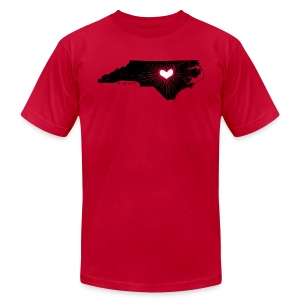NC State Wolfpack Love - Black/Red - Men's Fine Jersey T-Shirt