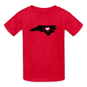 NC State Wolfpack Love - Black/Red - Kids' T-Shirt