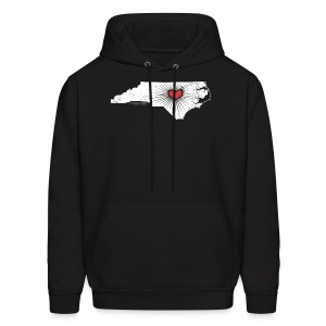NC State Wolfpack Love - White/Red - Men's Hoodie