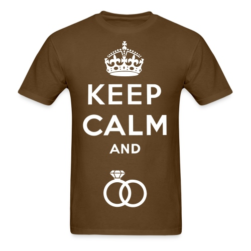 Keep Calm And Put A Ring On It Mens Tee - Men's T-Shirt