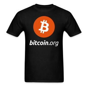 Bitcoin Logo Black T Shirt - Men's T-Shirt