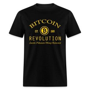 Bitcoin Revolution Black T Shirt - Men's T-Shirt