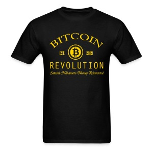Bitcoin Revolution Black T Shirt - Men's T-Shirt
