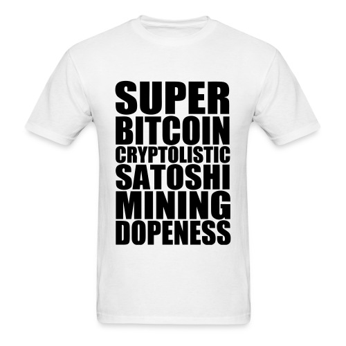 Super Bitcoin White T Shirt - Men's T-Shirt