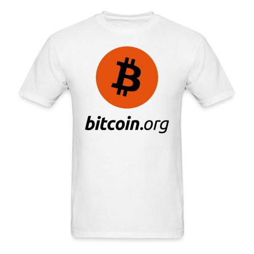 Bitcoin Logo White T Shirt - Men's T-Shirt