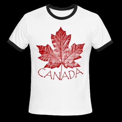 Cool Canada Souvenir T-shirt Mens Retro Canada T-shirt - Men's Ringer T-Shirt