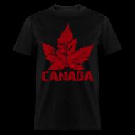 T-Shirts ~ Men's T-Shirt ~ Cool Canada Souvenir T-shirt Mens Retro Canada T-shirt