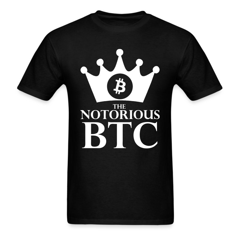 Notorious Bitcoin Black T Shirt - Men's T-Shirt