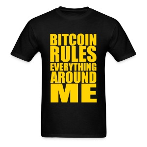 Bitcoin Rules Everything Black T Shirt - Men's T-Shirt