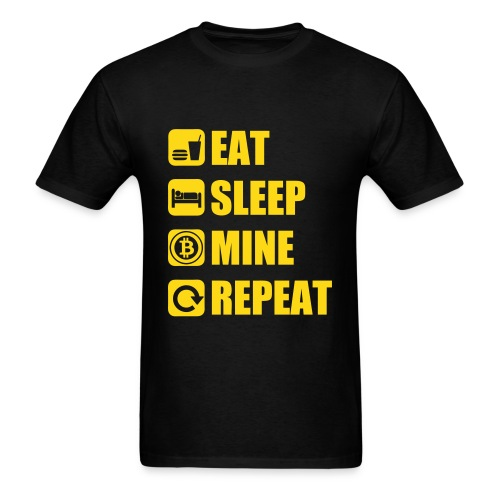Eat Sleep Bitcoin Black T Shirt - Men's T-Shirt