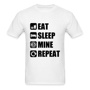 Eat Sleep Bitcoin White T Shirt - Men's T-Shirt