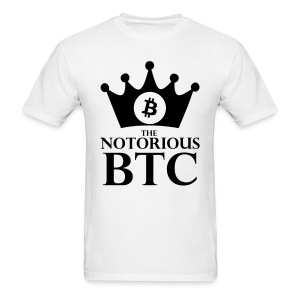 Notorious Bitcoin White T Shirt - Men's T-Shirt