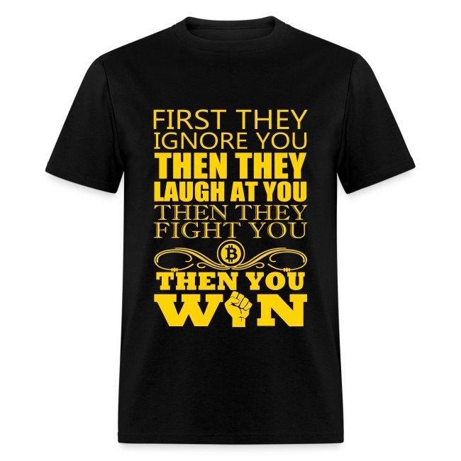Bitcoin Gandhi Black T Shirt