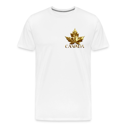 Canada Mens Plus Size T-shirt Gold Canada Souvenir Sm-5xl T-shirt - Men's Premium T-Shirt