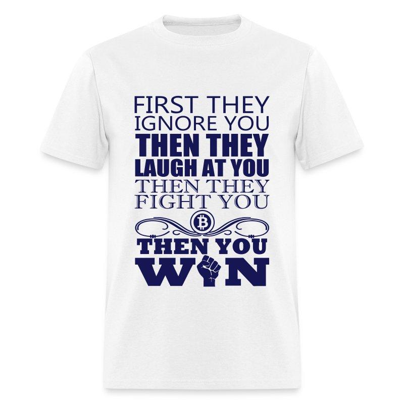 Bitcoin Gandhi White T Shirt - Men's T-Shirt