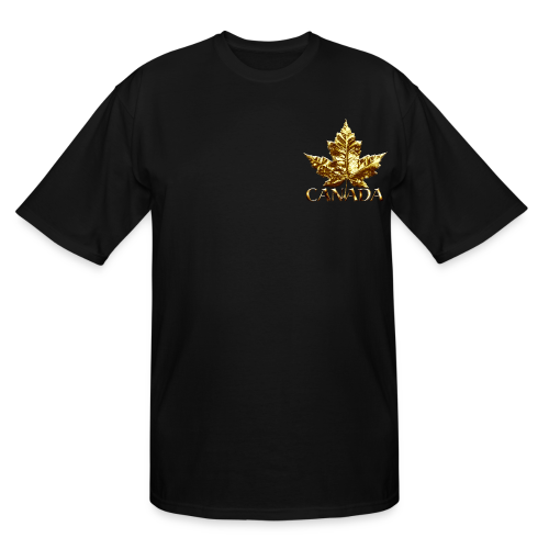 Canada Mens Plus Size T-shirt Gold Canada Souvenir XXXL T-shirt - Men's Tall T-Shirt