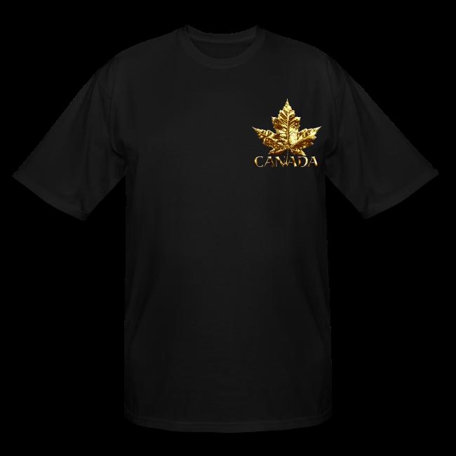 Canada Mens Plus Size T-shirt Gold Canada Souvenir XXXL T-shirt