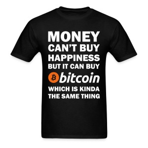 Bitcoin Happy Black T Shirt - Men's T-Shirt