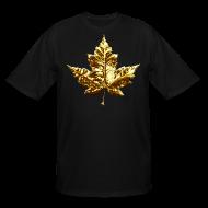 T-Shirts ~ Men's Tall T-Shirt ~ Canada Mens Plus Size T-shirt Gold Canada Souvenir XXXL T-shirt