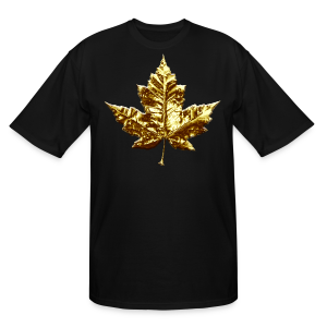 Canada Mens Plus Size T-shirt Gold Canada Souvenir Tall T-shirt - Men's Tall T-Shirt