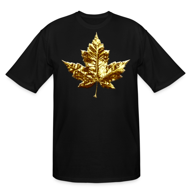 Canada Mens Plus Size T-shirt Gold Canada Souvenir Tall T-shirt